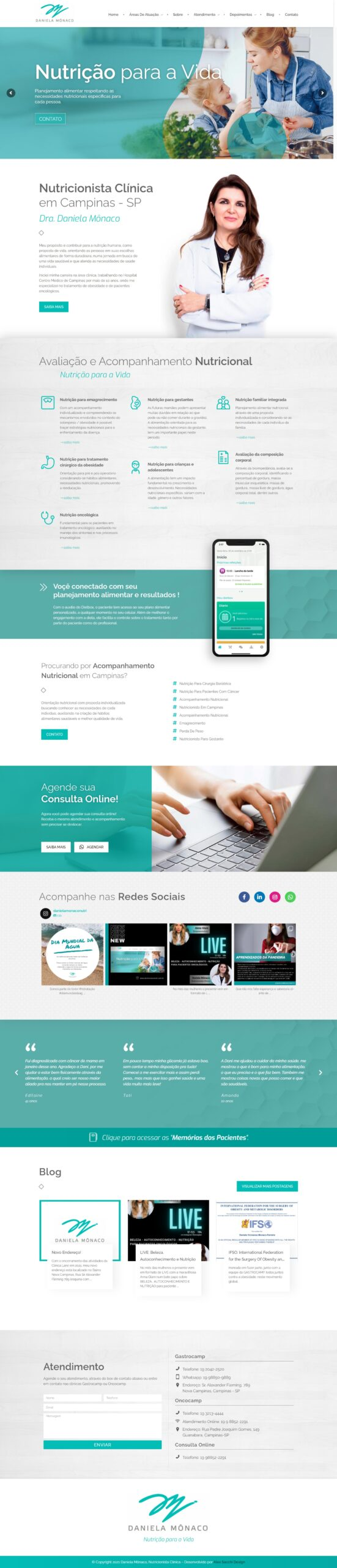 layout web designer site